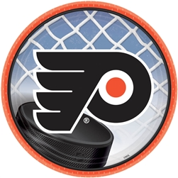 "Philadelphia Flyers 7"" Round Paper Plates 