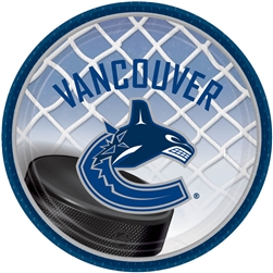 "Vancouver Canucks 7"" Round Paper Plates 