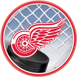 "Detroit Red Wings 7"" Round Paper Plates 