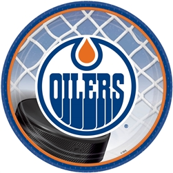 "Edmonton Oilers 7"" Round Paper Plates 