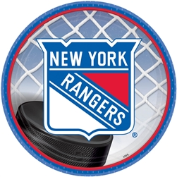 "New York Rangers 7"" Round Paper Plates 