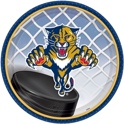 "Florida Panthers 7"" Round Paper Plates 