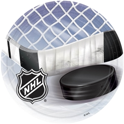 "NHL 7"" Round Paper Plates 