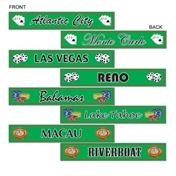 Gambling Destination Street Sign Cutouts
