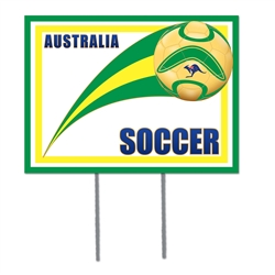 Australia Plastic Yard Sign