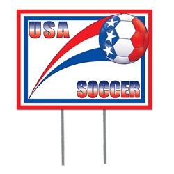USA Plastic Yard Sign