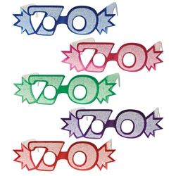 """70"" Glittered Foil Eyeglasses"