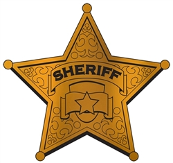 Foil Sheriff Badge Silhouette