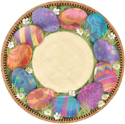 "Easter Elegance Round 7"" Plates 