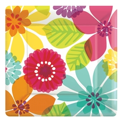 "Day in Paradise 7"" Square Plates 