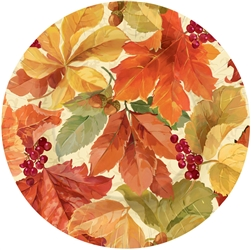 "Elegant Leaves Round 7"" Plates 