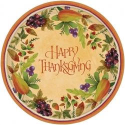 "Thanksgiving Medley Round 7"" Plates 