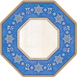 "Judaic Traditions 7"" Paper Octagonal Plates 