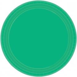 "Festive Green 9"" Round Paper Plates - 8ct 