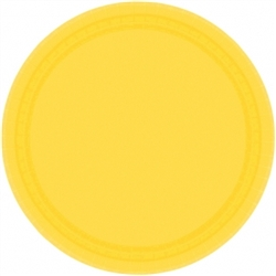 "Yellow Sunshine 9"" Round Paper Plates - 8ct 