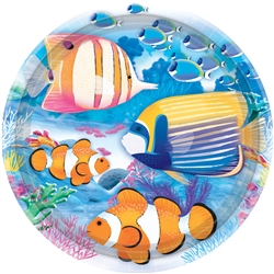 "Tropical Summer 9"" Plates 