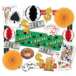 Casino Decorating Kit - 24 Pieces