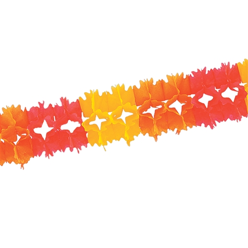 Golden Yellow Orange And Red Pageant Garland