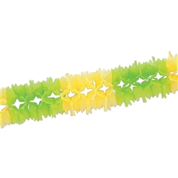 Light Green & Canary Pageant Garland