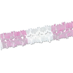 Packaged Pink & White Pageant Garland