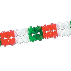 Red, White & Green Pageant Garland