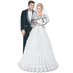 White Bride & Groom Centerpiece