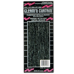 Black 2-Ply FR Gleam 'N Curtain