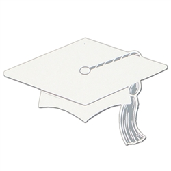 White Graduation Decorations for Sale