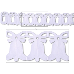 White Westminster Bell Garland