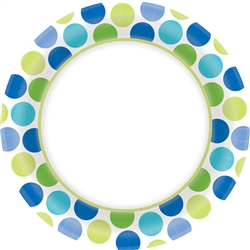"Cool Dots Border 6-3/4"" Plates 