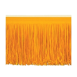 Orange 6-Ply Tissue Fringe Drape
