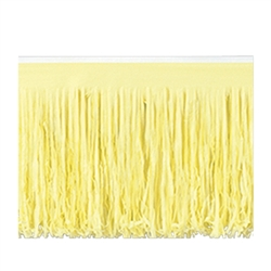 Yellow 6-Ply Tissue Fringe Drape