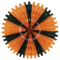 Orange and Black Tissue Fan