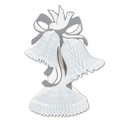 White Tissue Bell Centerpiece