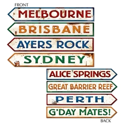 Australian Street Sign Cutouts