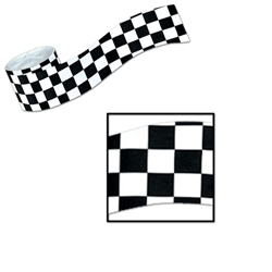 FR Checkered Crepe Streamer