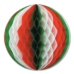 Red, White & Green Tissue Ball