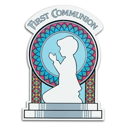 Boy First Communion Cutout