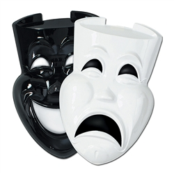 Plastic Comedy & Tragedy Faces