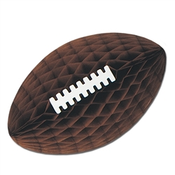 Brown Packaged Tissue Football with Laces