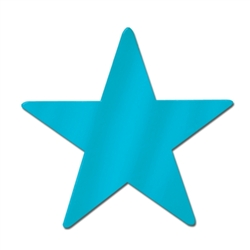 Turquoise Foil Star Cutout
