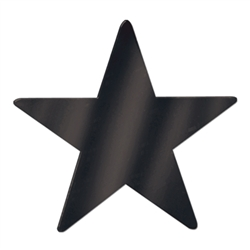 Black Foil Star Cutout