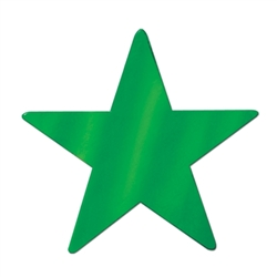 Green Foil Star Cutout