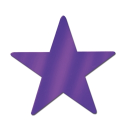 Purple Foil Star Cutouts