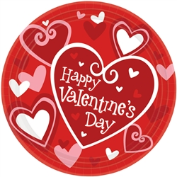 "Be Mine 9"" Round Plates 