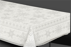White Snowflake Table Cover | Party Supplies
