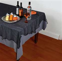 Black Cheesecloth Table Cover | Party Supplies