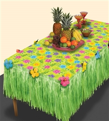 Summer Flower Transform-a-Table Kit | Luau Party Supplies