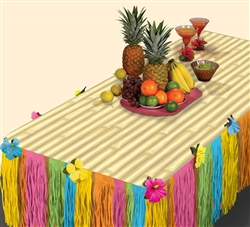 Tiki Transform-a-Table Kit | Luau Party Supplies