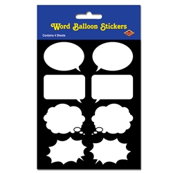 Word Balloon Stickers